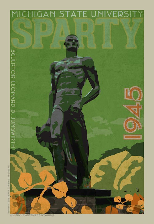 Image of Sparty Limited Edition 13x19 Print No. [052]