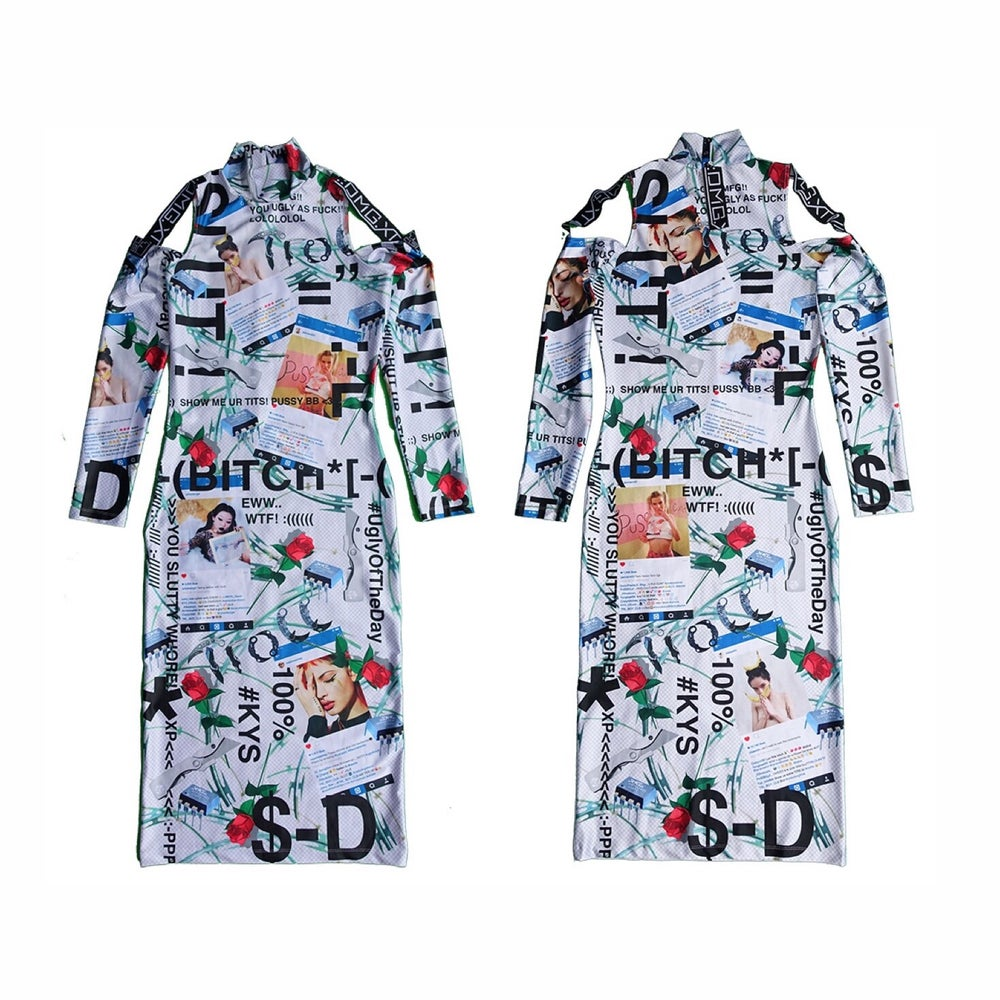 Image of DVMVGE KY$' 182 Full-Print Dress (size: S) last one!