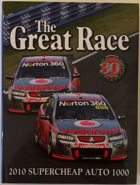 Image of The Great Race book 30. Bathurst 1000 2010. Lowndes and Skaife