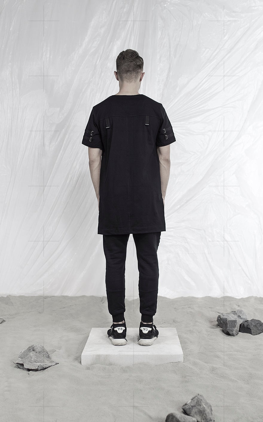 Image of Urban Flavours HOAX11 Armstrong Stripe Blk Tshirt