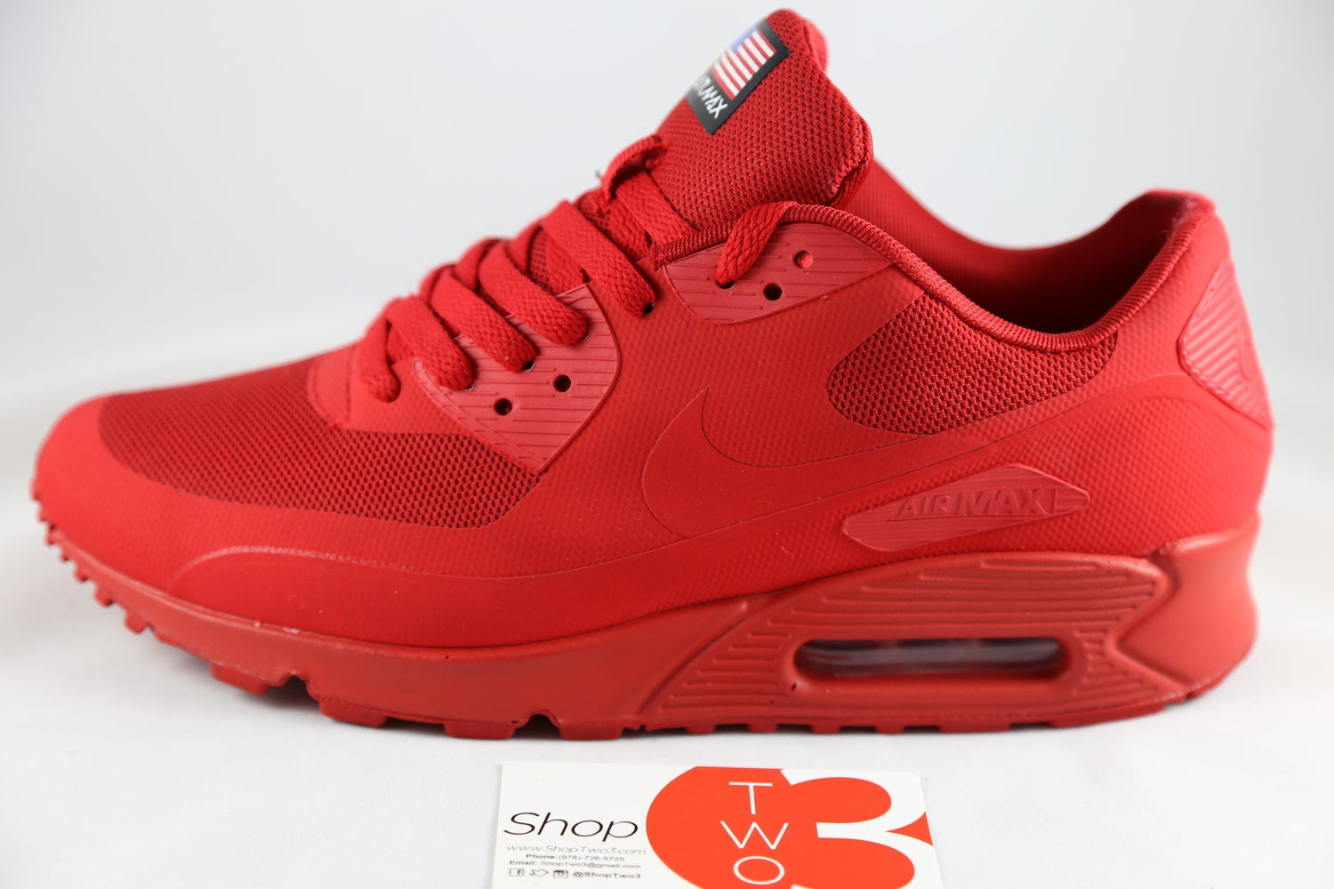 "Image of 2013 Nike Air Max 90 HYP QS HYPERFUSE ""RED"""