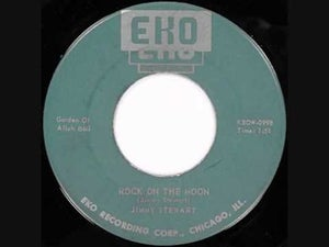 "Image of 7"" Jimmy Stewart : Rock On The Moon.  Covered by The Cramps."