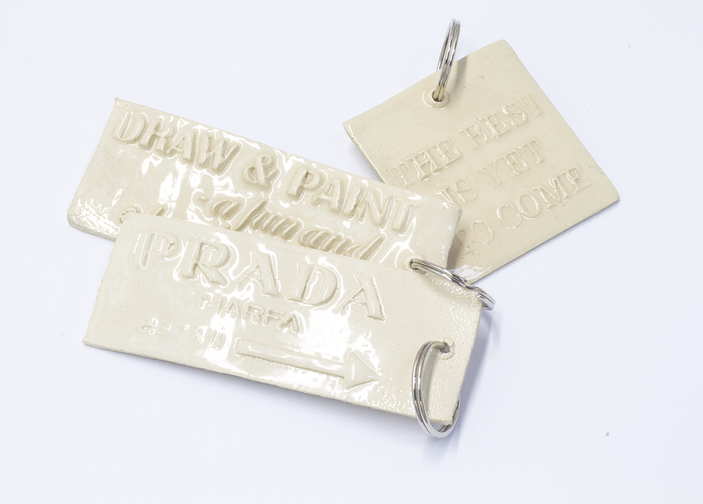 Image of Ceramic Keyring Transparent