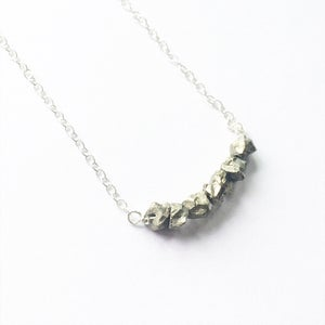 Image of Pyrite Row Necklace - sterling silver