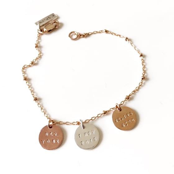 Image of Trio tag bracelet/necklace