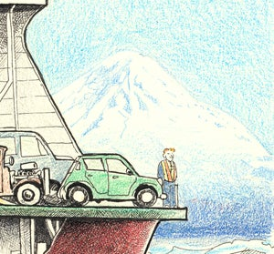 """Image of Washington State Ferry 15"""" X 18"""""""