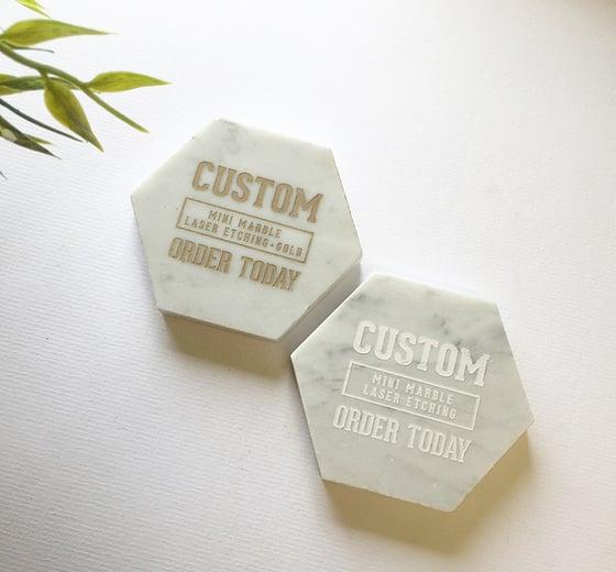 Image of Custom Laser Etching + Gold
