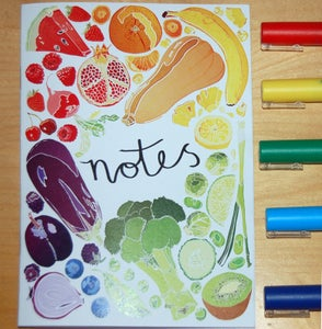 Image of Fruit and Vegetable illustrated Notebook