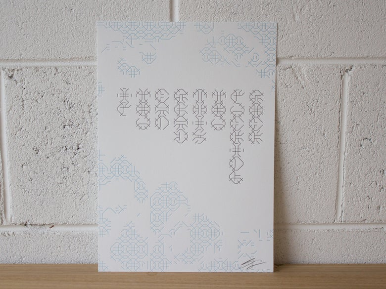 Image of Theo Says... Letterpress Print
