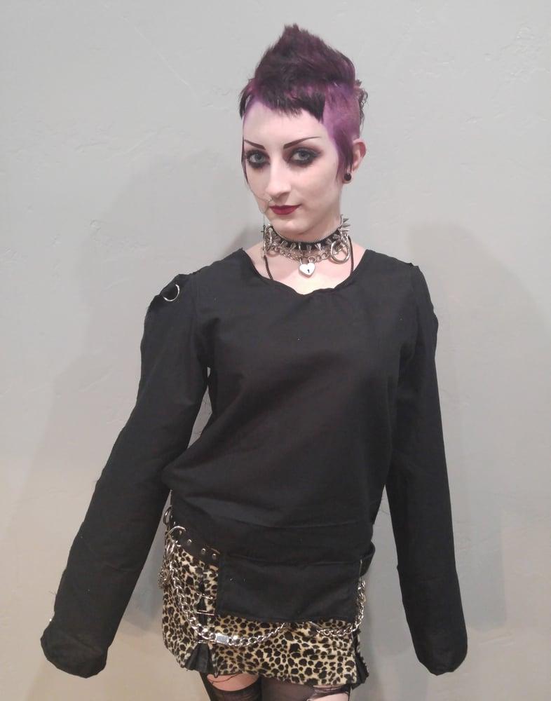 Image of blank black bondage shirt