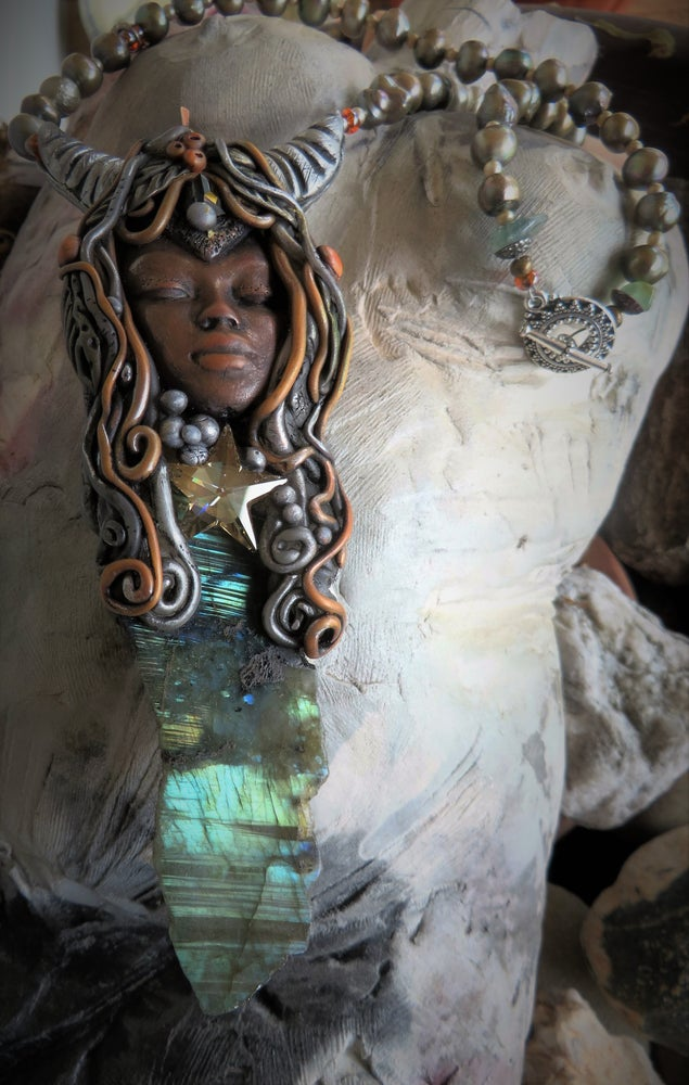 Image of Priestess of Ascension- Labradorite Shamanic Amulet of Divine Light