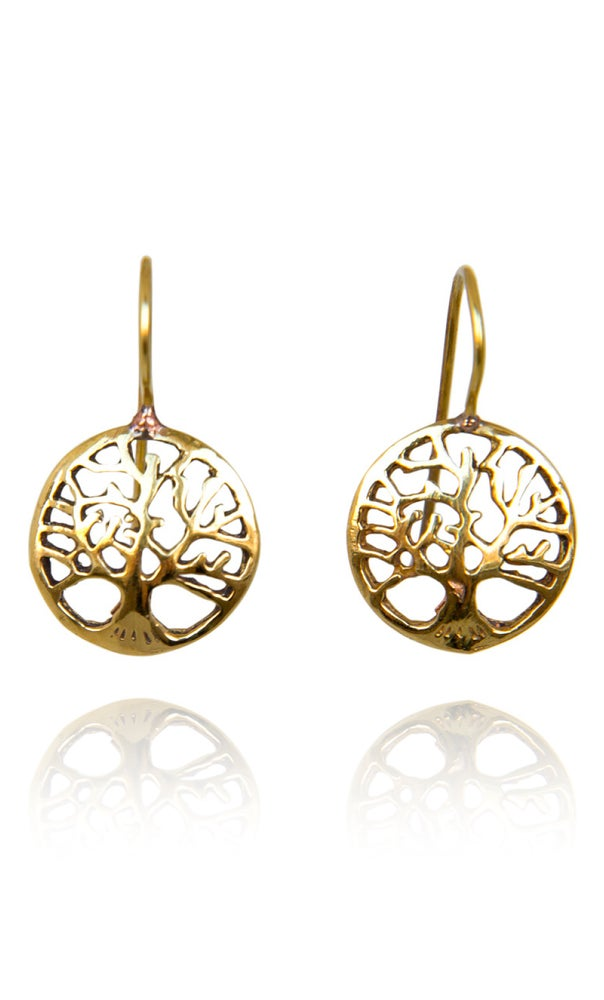 Image of Tree of life earrings silverplated