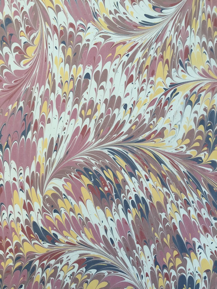 Image of Marbled Paper #49 traditional spot comb