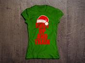 Image of Womens Christmas Shut Up & Train Green/Red Tshirt