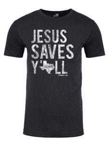 Image of Jesus Saves Y'all Texas tee