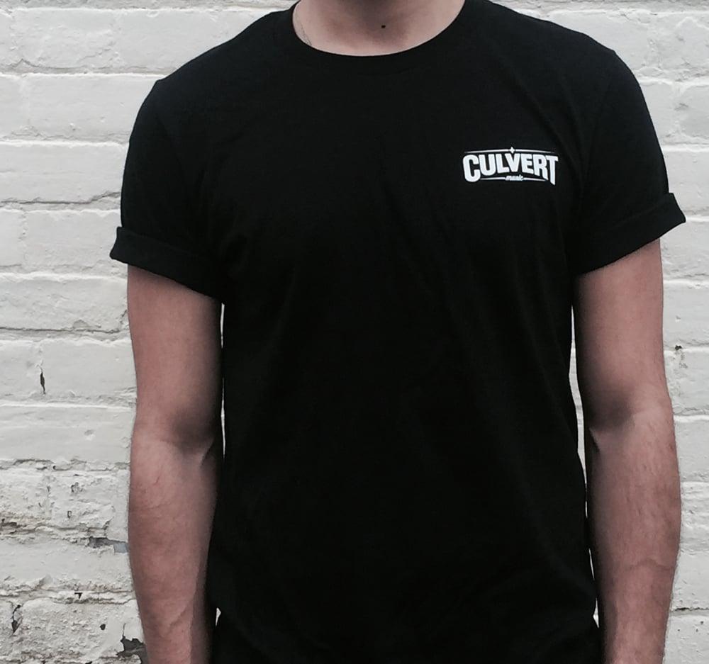 Image of Culvert Music WhiteOnBlack Logo Tee