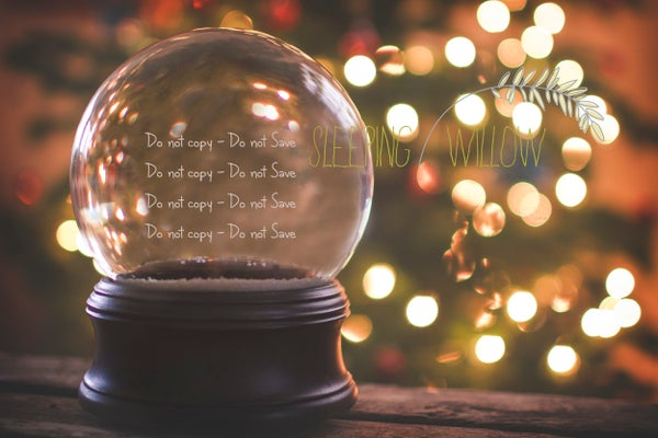 Image of 2015 Oh Christmas Tree! Digital Snowglobe Template -The Sleeping Willow
