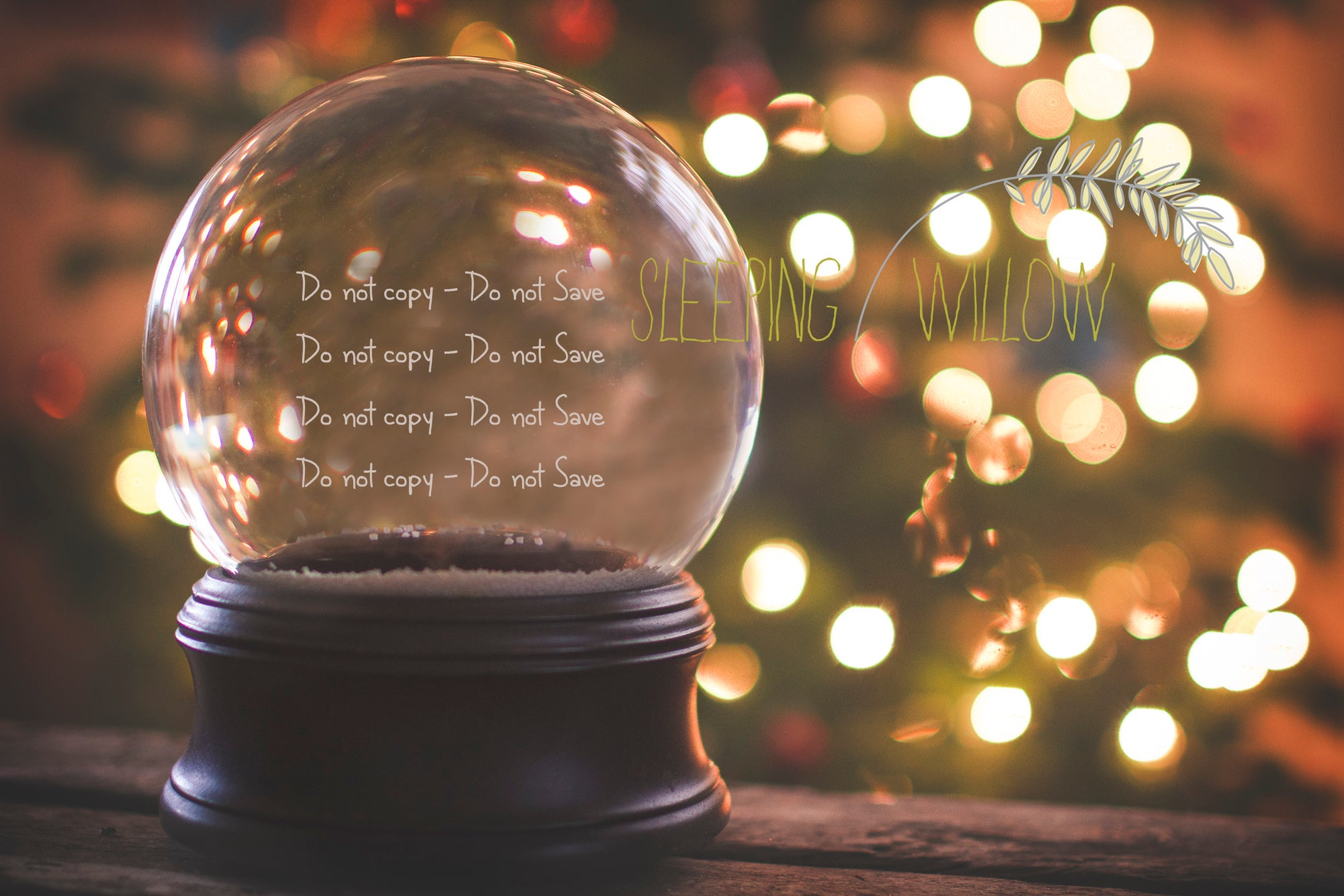 2015 oh christmas tree digital snowglobe template the sleeping