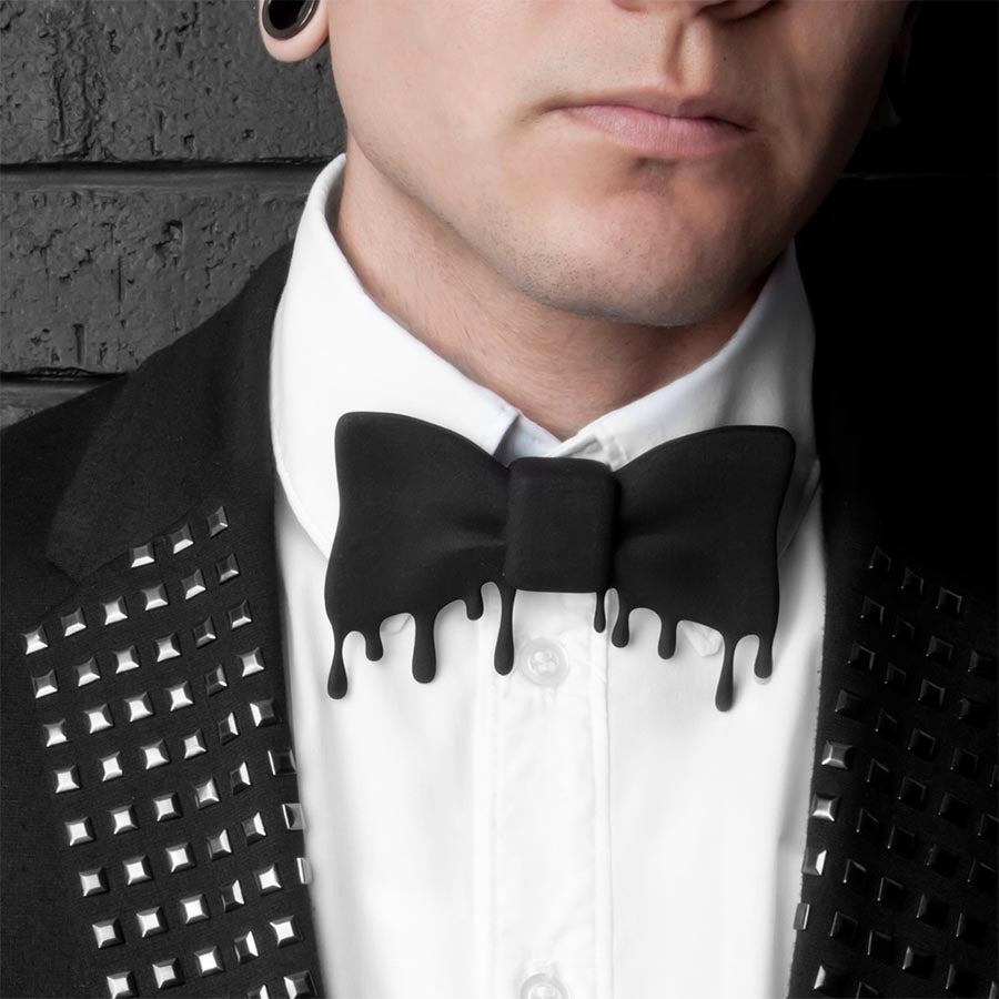 Image of THE 3D BOW TIE (BLACK)