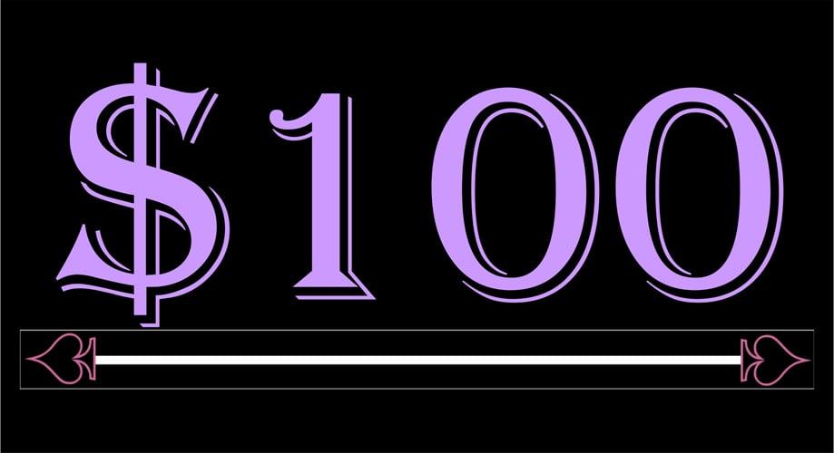 Image of $100 Deposit