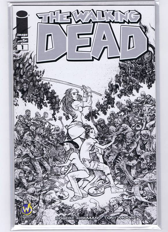 Image of The Walking Dead #1 Wizard World Austin 2015 Black and White Variant - Moritat Cover