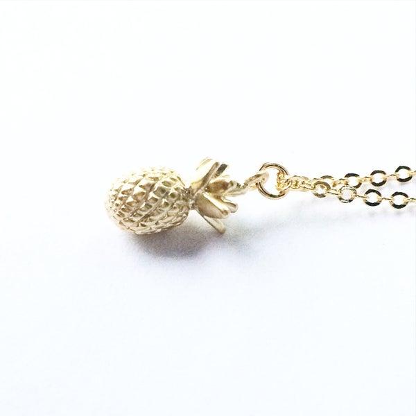 Image of Pineapple Charm Necklace