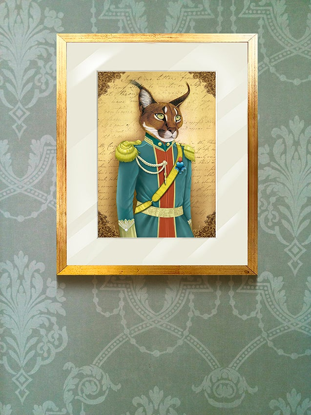 Image of Archibald the caracal / cuadro