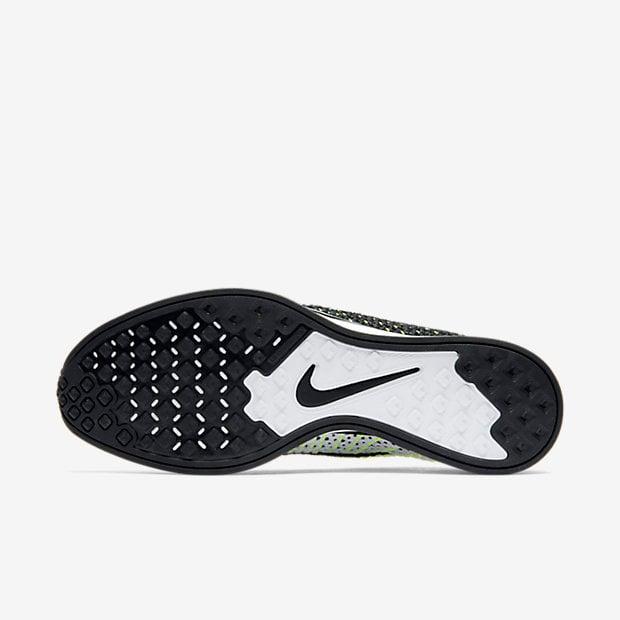 Image of Nike Flyknit Racer Black White Volt