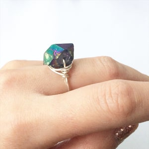 Image of Galaxy Ring - Aura Amethyst Crystal