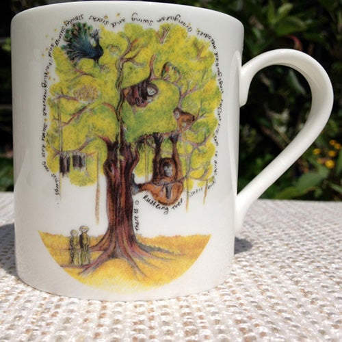 Image of Rustling Tree Ceramic Mug by Rebecca Carr
