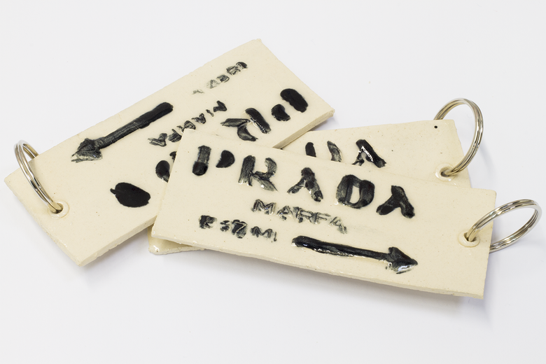 Image of Ceramic Keyring Prada Marfa