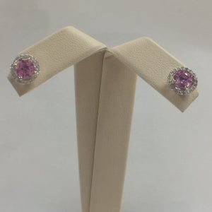 Image of Pink Sapphire Earrings