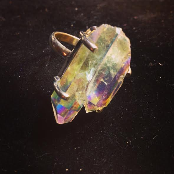 Twin Soul/Tantric Twin Angel Aura Quartz Crystal (Sterling Silver)