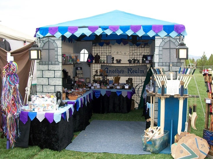 Image of 6 X 4 M Medieval Market Stall Site