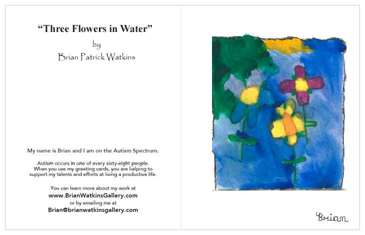Image of 3 Flowers in Water