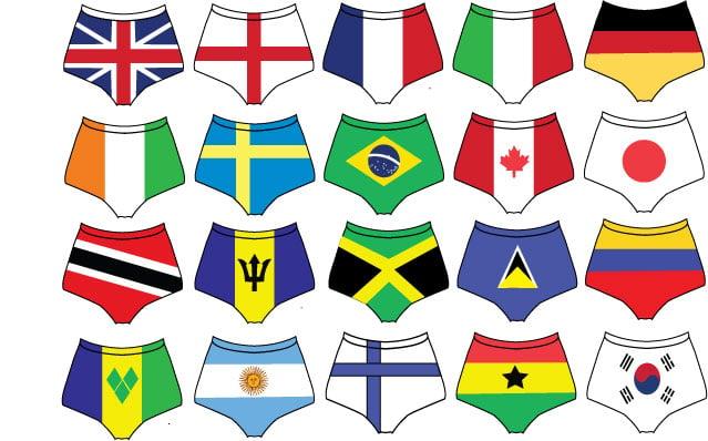 Image of FLAG SHORTS