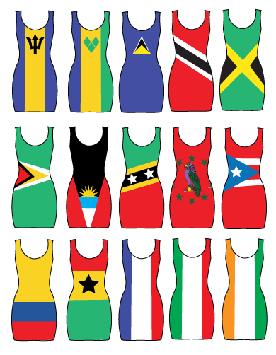 Image of FLAG DRESS 'BACCHANAL BODYCON'