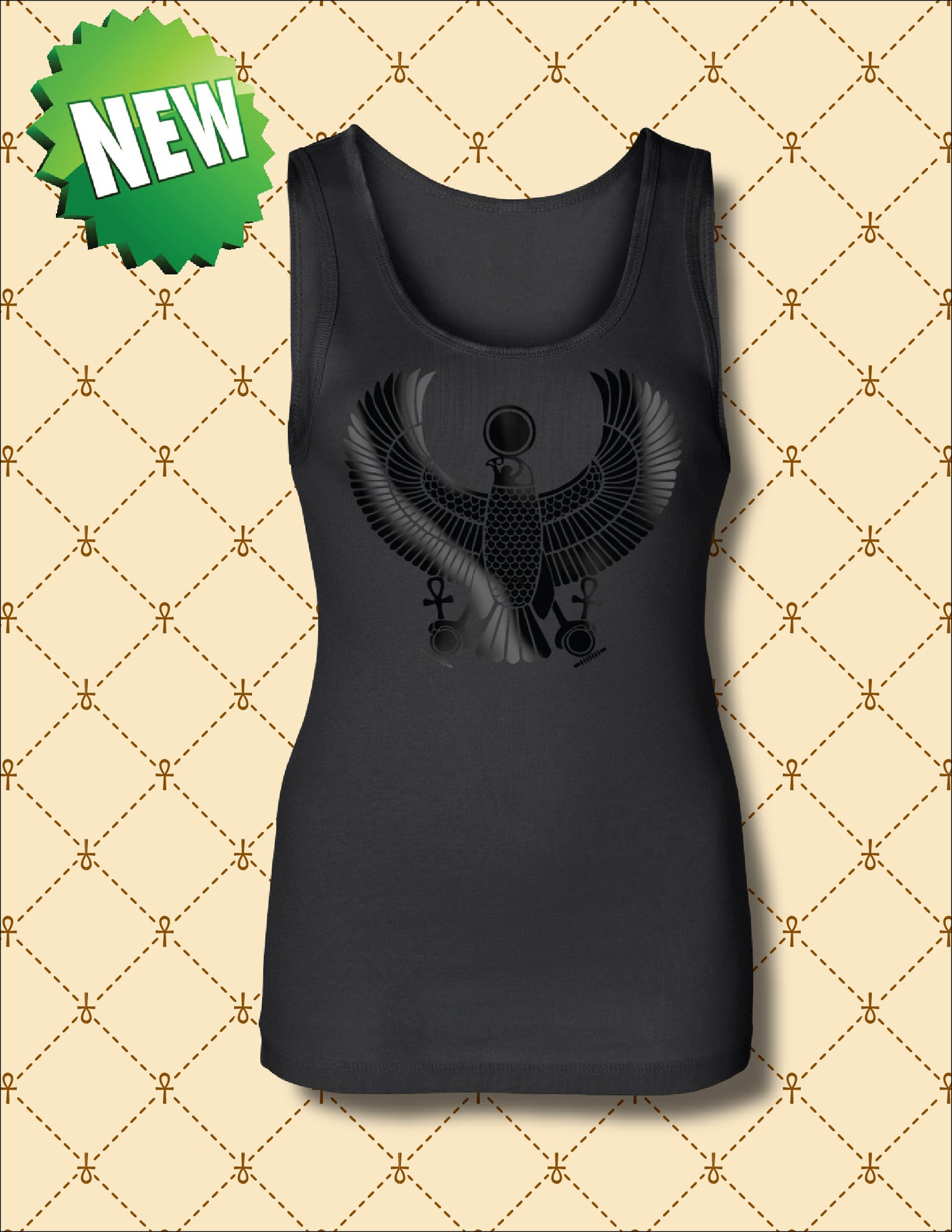 Image of WOMEN'S BLACK FOIL HRU  TANK TOP