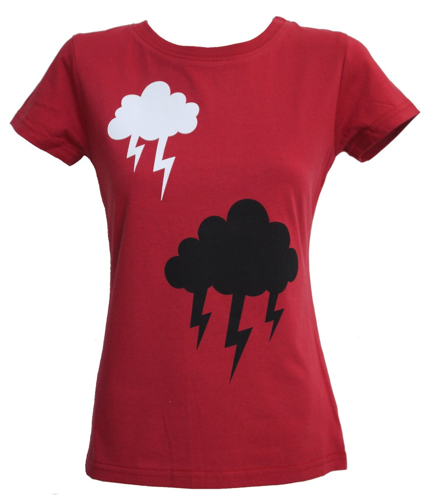 Image of Stormy Weather tee- Red