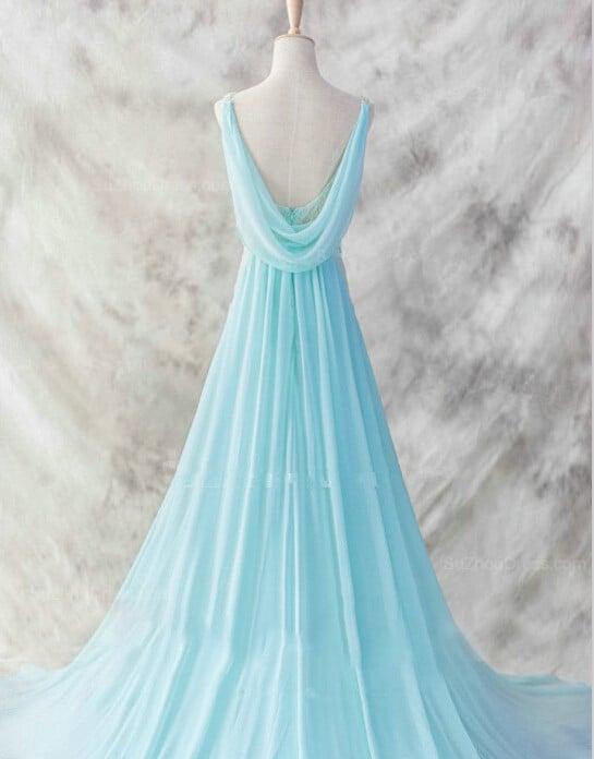 Glam Custom Handmade V-neckline Backless Prom Dresses, Sexy Evening Dresses, Formal Dresses