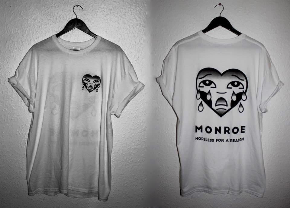 73fead272 MonroeUK — CRYING HEART TEE