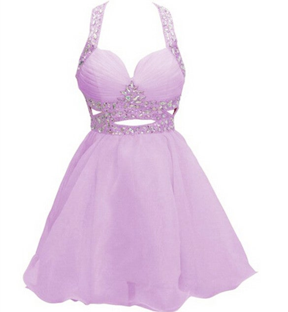 Lovely and Sweet Lavender Short  Homecoming Dresses,Short Prom Dresses Graduation Dresses