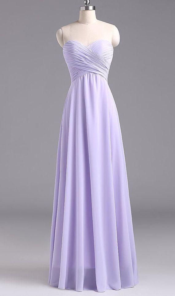 Charming Long Lavender Simple Prom Dresses, Lavender Bridesmaid Dresses, Formal Gowns