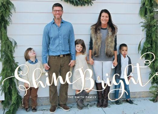 Image of Shine Bright Holiday Photo Card