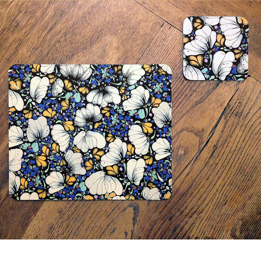 Image of Set of 4 Placemats - Chrysanthemum