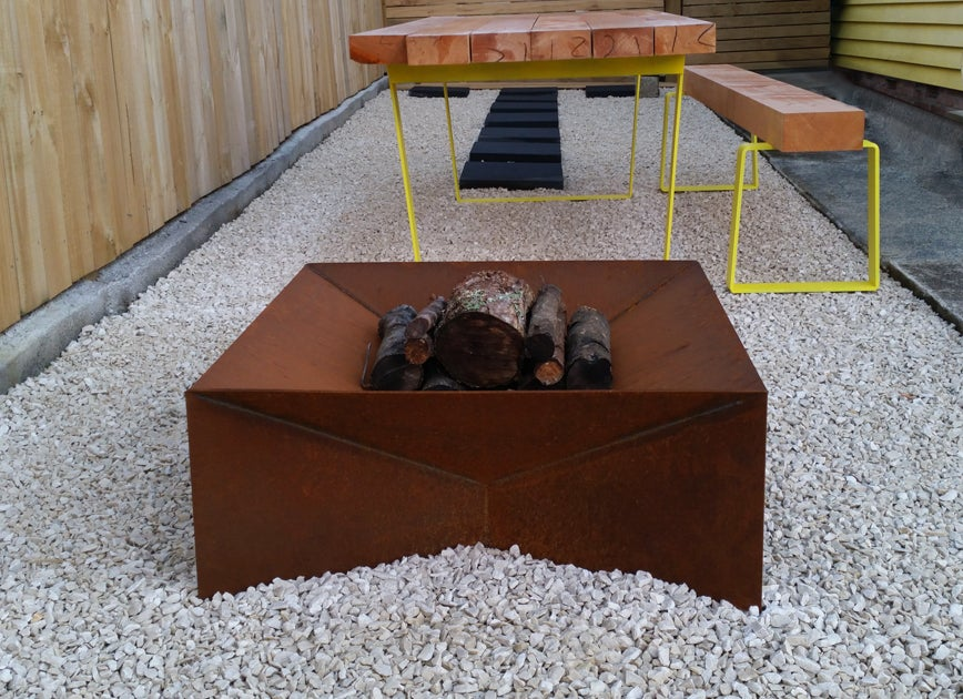 Image of WANAKA Fire Pit in Corten Natural Rust