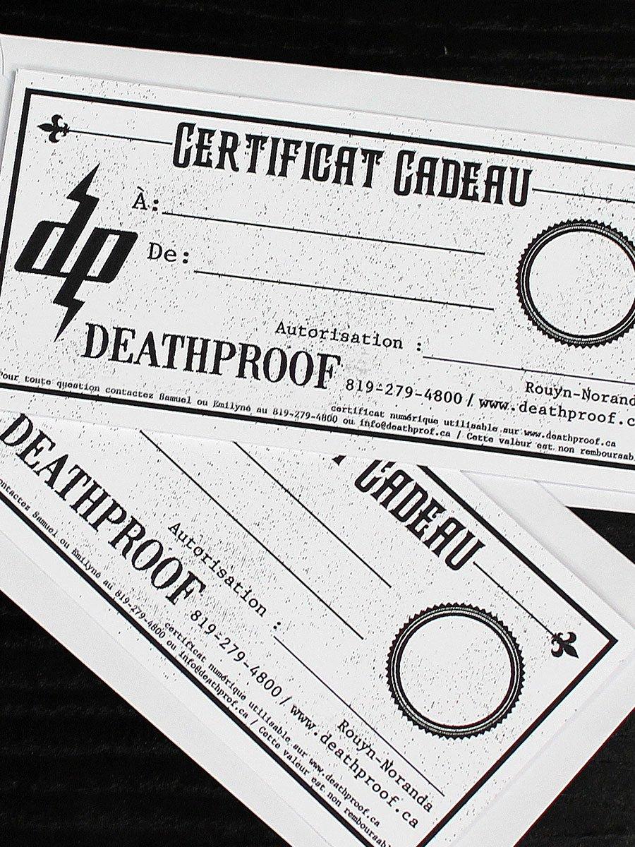 Image of Certificat Cadeau Deathproof