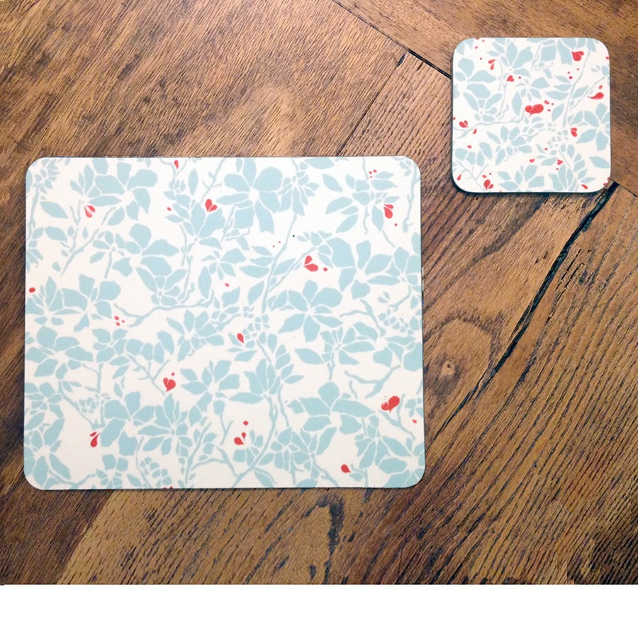 Image of Set of 4 Placemats - Heart Ivy