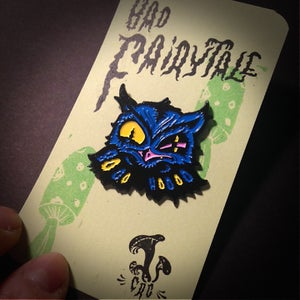 "Image of ""Bad Fairytale"" Scowly Owl Enamel Pin"