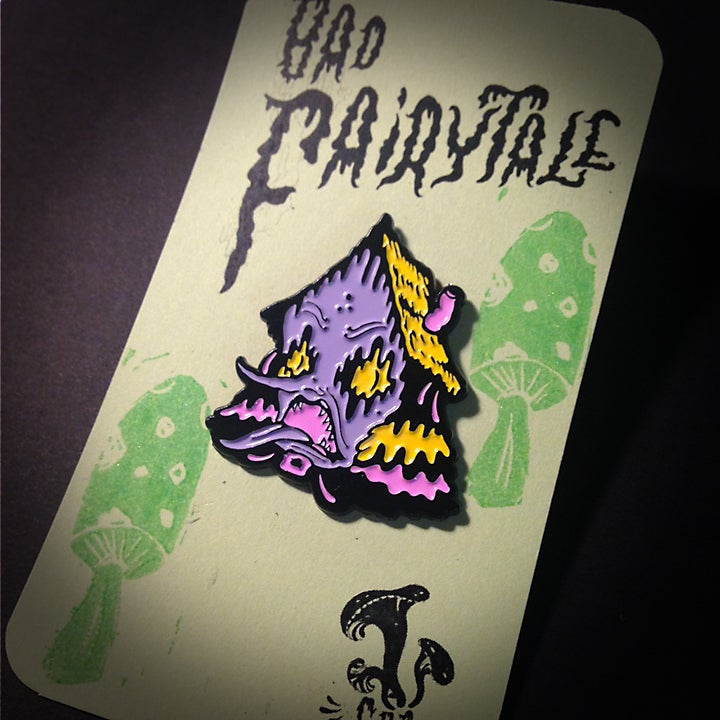 "Image of ""Bad Fairytale"" Malady Manor Enamel Pin"